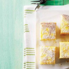 Double-lemon bars