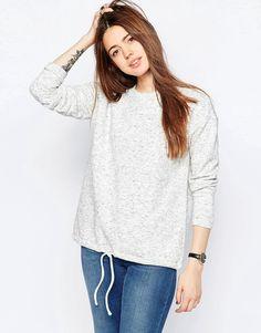 Bild 1 von ASOS – Sweatshirt mit gerafftem Saum
