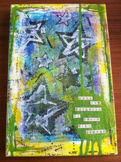 entry by Sara Ferret I have lots of printings in papers, But this is my first final work. Using my Gelli Arts - Gel Printing Plate (Barcelona - Spain)