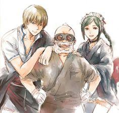 Sakata Kintoki, Gengai Hiraga and Tama | Gintama