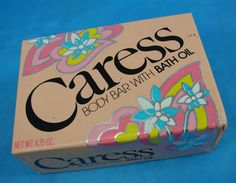 1980s Caress Body Bar Bath Oil Soap Bar. This soap reminds me of packing for summer camp!