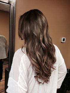 Balayage color and extensions