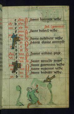 Book of Hours Marginalia Walters Manuscript W.88 fol. 8r by Walters Art Museum Illuminated Manuscripts