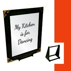 Kitchen Quote Engraved Mirror Only Kitchen Quotes, Wall Hanger, Mirrors, Adhesive, Gifts, Presents, Cooking Quotes, Favors, Mirror