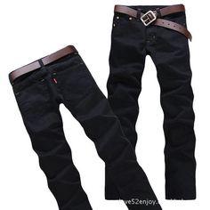 Slim Fit Brand Men's Jeans – teeteecee - fashion in style Outdoor Pants, Light Blue Jeans, Jeans Style, Jeans Pants, Hot, Men Casual, Slim, Fitness, Free Shipping