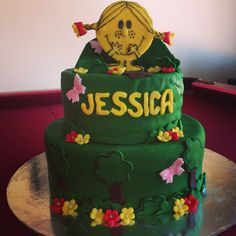 Little miss sunshine cake for a little girls birthday. Fun and happy :)