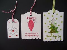 Todays class at Online Card Classes Holiday 2014 was making tags in varying degrees of...