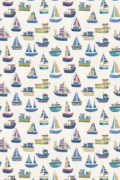 Boat Club by Prestigious - Cobalt - Fabric : Wallpaper Direct Iphone Wallpaper 4th Of July, Nautical Iphone Wallpaper, Boat Wallpaper, Drawing Wallpaper, Pattern Wallpaper, Pattern Art, Print Patterns, Seaside Cottage Decor, Boat Decals