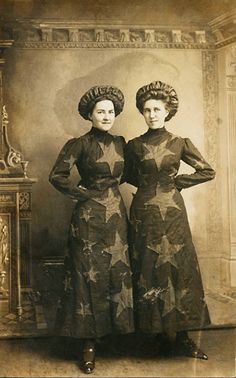 Audrey Moreland and Iva Case get Patriotic