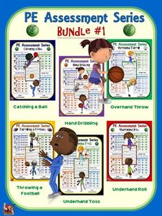 PE Assessment Series: Super Bundle: 24 Skill and Movement Assessment Packages Pe Ideas, Project Ideas, Adapted Pe, Elementary Pe, Pe Activities, Summative Assessment, Pe Teachers, I Can Statements, Physical Education Games