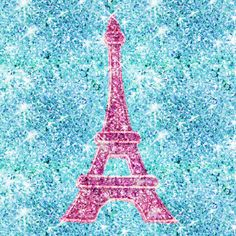 pink+eiffel+tower+background | Bling Me! Girly Pink Eiffel Tower, teal blue glitter photo print Art ...