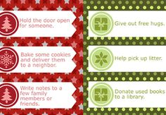 25 random acts of kindness printables for kids to do during advent