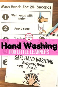 Teach kids the expectations for safe hand washing during the COVID-19 pandemic. For back to school, distance learning, or homeschooling. Posters, printables, students pages, sorting pages, and mini-book included. Hand washing is one of the best ways to stop the spread of illness and to stay healthy. #covid19 #handwashing #distancelearning Classroom Expectations, School Looks, Positive Behavior, Little Learners, Mini Books, Hand Washing, Classroom Management, Sorting, Teaching Kids