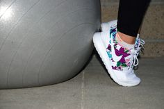 Fashionably Fit Friday, nike's, floral nike's, workout, exercise