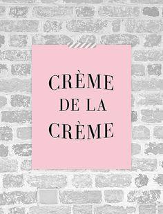 Creme De La Creme-Print, französischer Print, französische Poster, Paris Poster, Paris Druck, druckbare französischen Kunst, sofort-Download