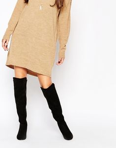 ASOS KNIGHTLY Flat Over The Knee Boots