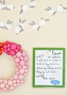 DIY bright ombre fabric wreath, & simple with endless color possibilities fabric wreath
