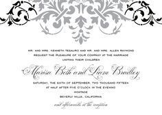 Wedding Invitations - Florentine Design at top is letter press and the rest is digital.