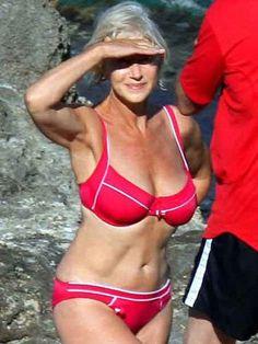 Goal: to look as good as Helen Mirren in a bikini when I'm 63 like she is here!