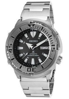 Seiko SRP637K1 Watches,Men's Prospex Automatic Stainless Steel Black Dial, Diver Seiko Automatic Watches