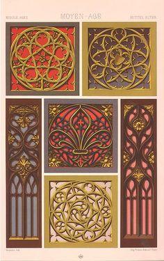 """Gothic ornamentation, Racinet's """"Le Costume Historique"""""""