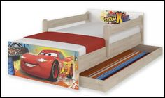 Disney children's bed Cars – Kiddymill Magical Room, Childrens Desk, Mattress Frame, Car Bed, Hotel Transylvania, Bed With Drawers, Disney Cars, How To Make Bed, Kid Beds