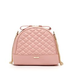 France - For that lady in you, our pink quilted cowhide/lambskin leather crossbody bag with a gold chain strap is the perfect fit - Susu Handbags