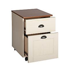 Realspace Shore Mini Solutions Rolling Pedestal File 22 14 H x 15 12 W x 19 12 D Antique White by Office Depot & OfficeMax