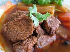Photo about Close up for a plate of beef stewed. Image of close, herbs, chili - 5310723 Swiss Steak, Healthy Chef, Stew, Chili, Spicy, Herbs, Plates, Fresh, Meat