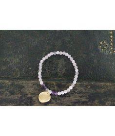 Bracelet élastique composé de perles en Quartz rose Mode Yoga, Pearl Necklace, Beaded Necklace, Quartz Rose, Creations, Jewelry, Carnelian, Stretch Bracelets, Coral