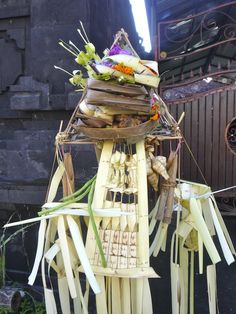 Offering for the spirits, Ubud, Bali