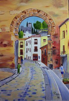 https://flic.kr/p/PZ8VPy   Puerta Elvira (Granada)   otro cuadro de Pilar