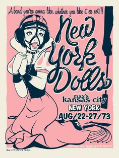New York Dolls Serigrafía 2 tintas Edición de 25 ejemplares