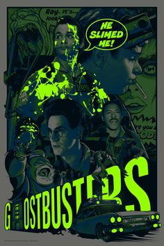 Ghostbusters poster by Joshua Budich Ghostbusters Poster, The Real Ghostbusters, Scary Movies, Great Movies, Horror Movies, Film Poster Design, Movie Poster Art, Poster Designs, Die Geisterjäger