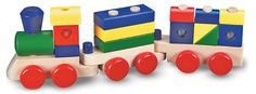 Melissa & Doug Wooden Stacking Train Toddler Toy $14.99