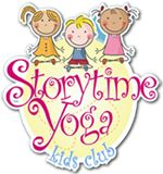 Has some free downloadable yoga stories for kids