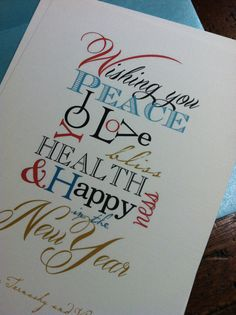 happy new year card or printable file
