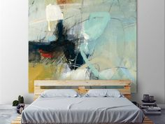"""Clicart 72 in. X 72 in. """"Apex I"""" von CJ Anderson gedruckt gerahmte Leinwand Wandkunst - Abstract Expressionism, Abstract Art, Abstract Portrait, Art Actuel, Giant Wall Art, Big Wall Art, Contemporary Paintings, Contemporary Design, Canvas Wall Art"""