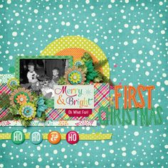 Digital Scrapbook Layout by Bethie | Merry and Bright by Bella Gypsy