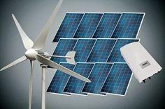 Zestaw wiatrowo-solarny 6kW - turbina 3kW i panele fotowoltaiczne 3kW wraz z kontrolerem