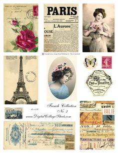 ephemera | ATC French Collection #2- Vintage French Ephemera