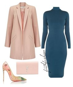 A fashion look from April 2016 featuring backless dress, duster coats and christian louboutin shoes. Browse and shop related looks. Classy Outfits, Chic Outfits, Fall Outfits, Fashion Outfits, Pink Outfits, Look Fashion, Teen Fashion, Runway Fashion, Womens Fashion
