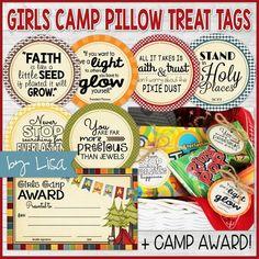 Girls Camp {Gift Tag Kit} + Award Certificate PRINTABLE