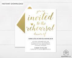 Gold Bride Tribe Bachelorette Invitation Bachelorette Party