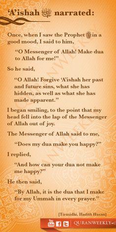 Narrated Aisha RA: