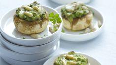 Gevulde champignons op Italiaanse wijze