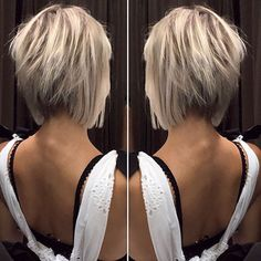 12 Amazing Blunt Bob Hairstyles You'd Love to Try This Year! 12 Amazing Blunt Bob Hairstyles You'd Love to Try This Year! Blunt Bob Hairstyles, Inverted Bob Haircuts, Popular Short Hairstyles, Short Layered Haircuts, Blonde Short Hairstyles, Short Choppy Bobs, Stacked Haircuts, Thin Hairstyles, Stylish Hairstyles