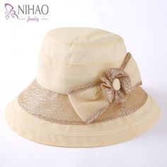 Womens fishing bucket with flower bow uv package for outdoors summer wear Jewelry Supplies, Jewelry Stores, Fishing Bucket Hat, Sun Protection Hat, Wide Brim Sun Hat, Spring Fashion 2017, Sun Hats For Women, Affordable Jewelry, Summer Wear