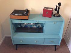 Retro Vintage Upcycled 50s 60s Sideboard Dresser   eBay