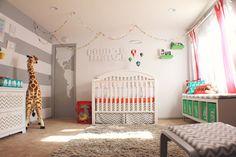Modern, Colorful Circus Themed Nursery